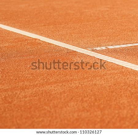 tennis clay court - stock photo