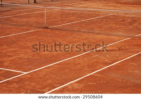 Tennis clay court. Sport and competition concept - stock photo