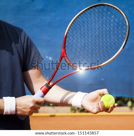 tennis concept - stock photo