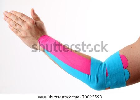 tennis elbow - stock photo