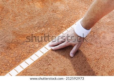 tennis, helper - stock photo