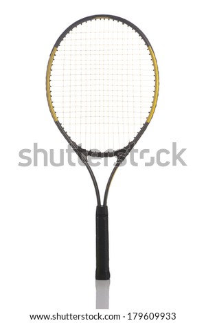 Tennis racket isolated on white  - stock photo
