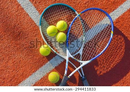 Tennis, Tennis Ball, Backgrounds. - stock photo