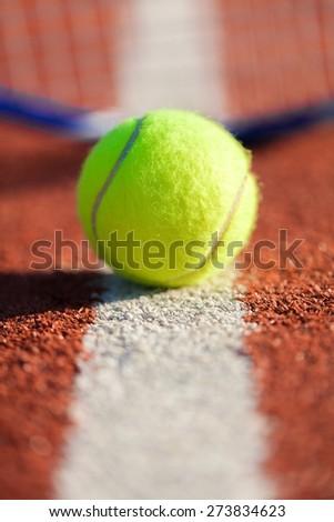 Tennis, Tennis Ball, Serving. - stock photo
