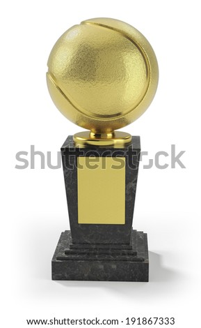 Tennis trophy - stock photo