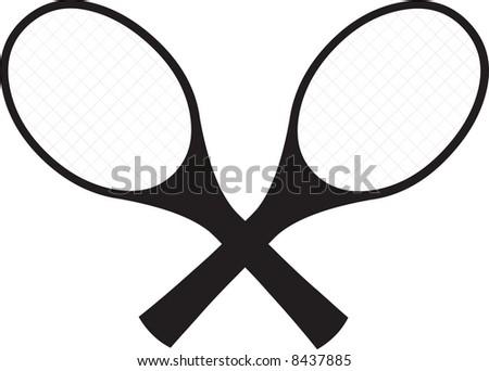 Tennisrackets illustration - stock photo