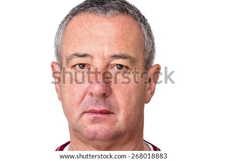 Tense Men Portrait - stock photo