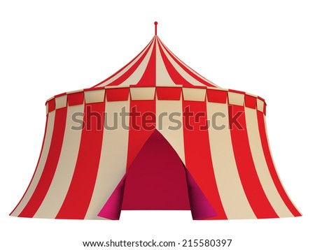 tent on a white background - stock photo