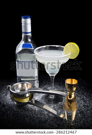 tequila cocktail - stock photo