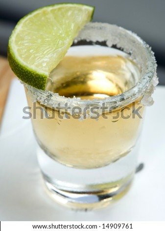 Tequila shot - stock photo
