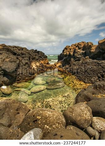 Teresitas Beach in Tenerife, Canary Islands, Spain - stock photo
