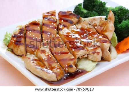 Teriyaki Chicken - stock photo