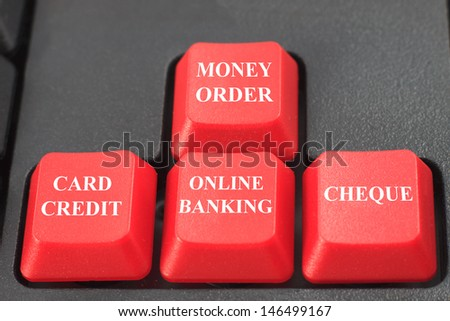 term of payment concept on keyboard - stock photo