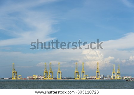 terminal at penang cargo port, Malaysia - stock photo