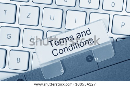 Terms and Conditions - stock photo