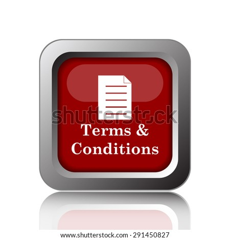 Terms and conditions icon. Internet button on white background  - stock photo