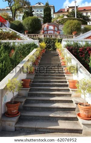 terrace gardens Prague, Bohemia (Ledebour garden) - stock photo