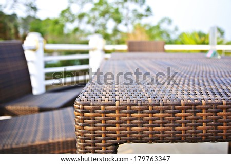 Terrace lounge with Table and Chair - stock photo