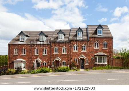 Terraced houses stock photos images pictures for What is terrace house