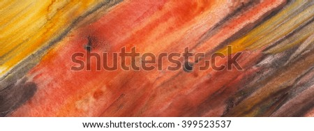 Terracotta abstract,  watercolor texture background. Colorful handmade technique aquarelle.  - stock photo