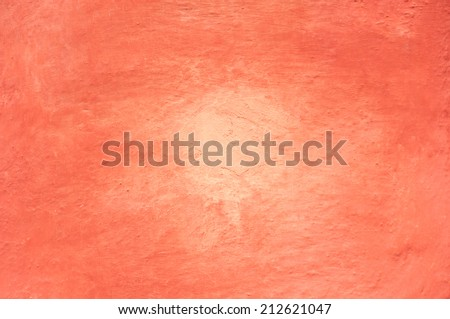 terracotta colored house wall background texture - stock photo