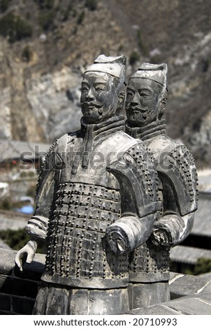 Terracotta wars from a burial place of the first emperor of China - stock photo