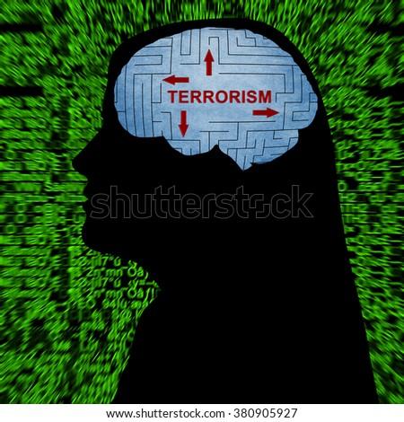 Terrorism in mind - stock photo