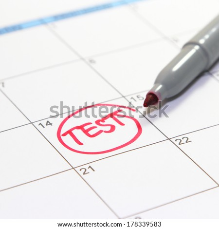 test appointment schedule - stock photo