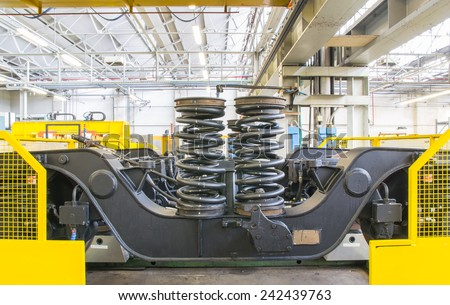 test bench for revised rail cart - stock photo