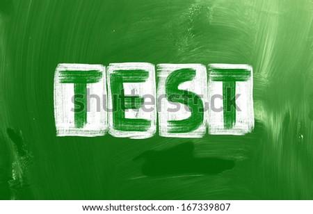 Test Concept - stock photo