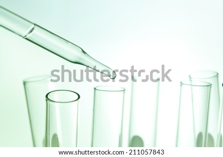 Test tubes closeup.medical glassware  - stock photo