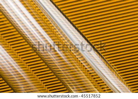 test tubes on striped background - stock photo