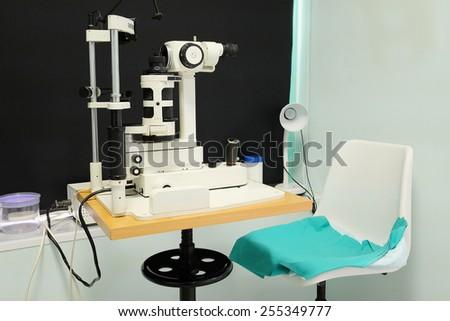 Test vision machine - stock photo