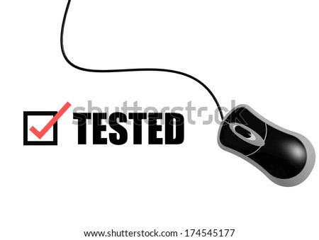 Tested with mouse - stock photo