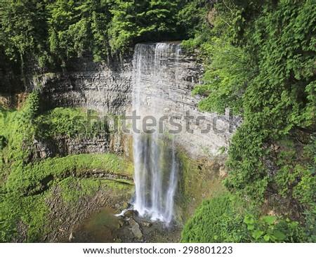 Tews Falls, Flamborough, Hamilton, Ontario, Canada - stock photo