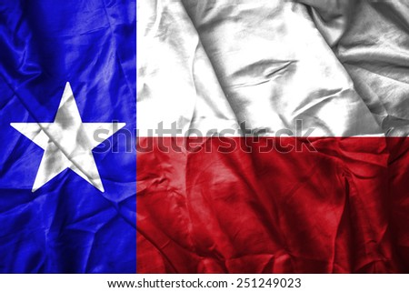 Texas flag - stock photo