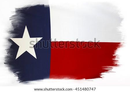 Texas flag on plain background  - stock photo