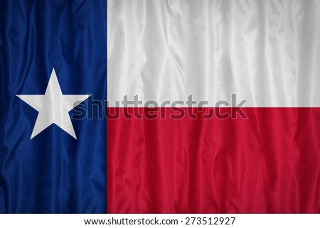 Texas flag pattern with a peace on fabric texture,retro vintage style - stock photo