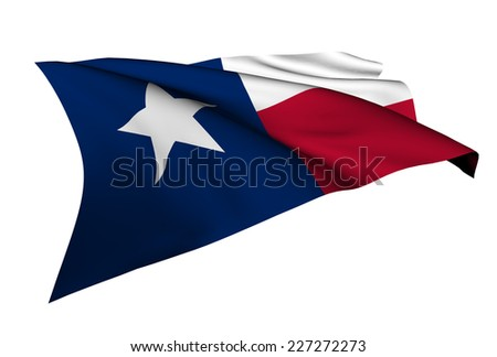 Texas flag - USA state flags collection no_4  - stock photo