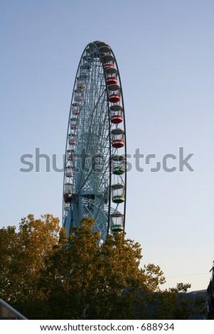 Texas Star Ferris Wheel at Fair Park in Dallas, Texas - stock photo