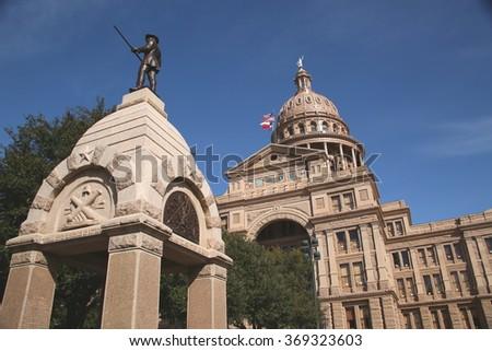 Texas State Capitol Austin Texas - stock photo