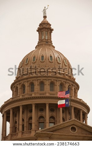 Texas State Capitol Building Austin Texas - stock photo