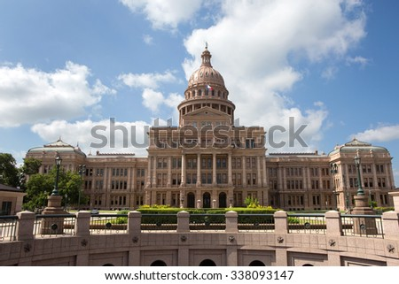 Texas State Capitol building located in Austin, Texas, USA. - stock photo