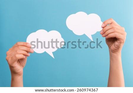 Text Bubbles - stock photo