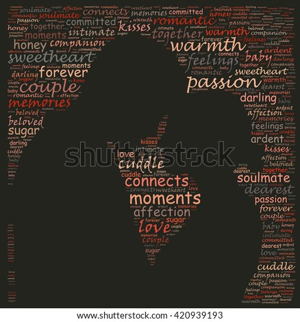 Text collage of human relationship - stock photo
