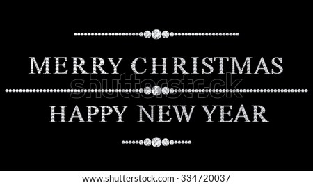 text from diamonds merry christmas - stock photo