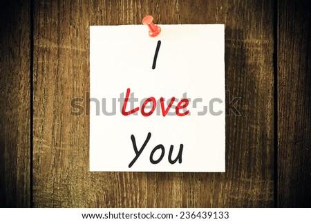 text i love you  - stock photo