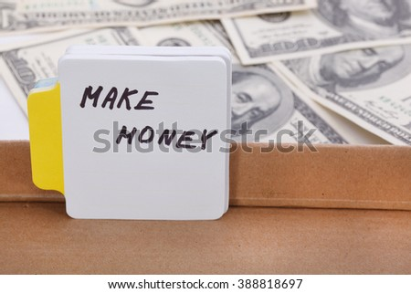 Text - make money. Business concept. - stock photo