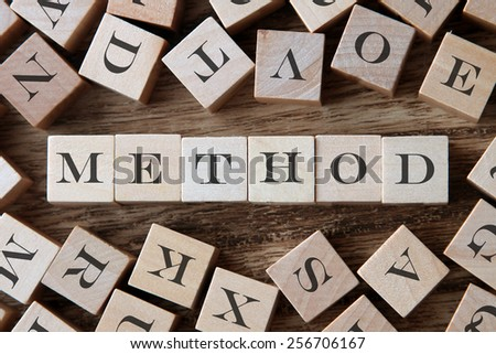 text of METHOD on cubes - stock photo