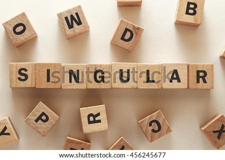 text of SINGULAR on cubes - stock photo